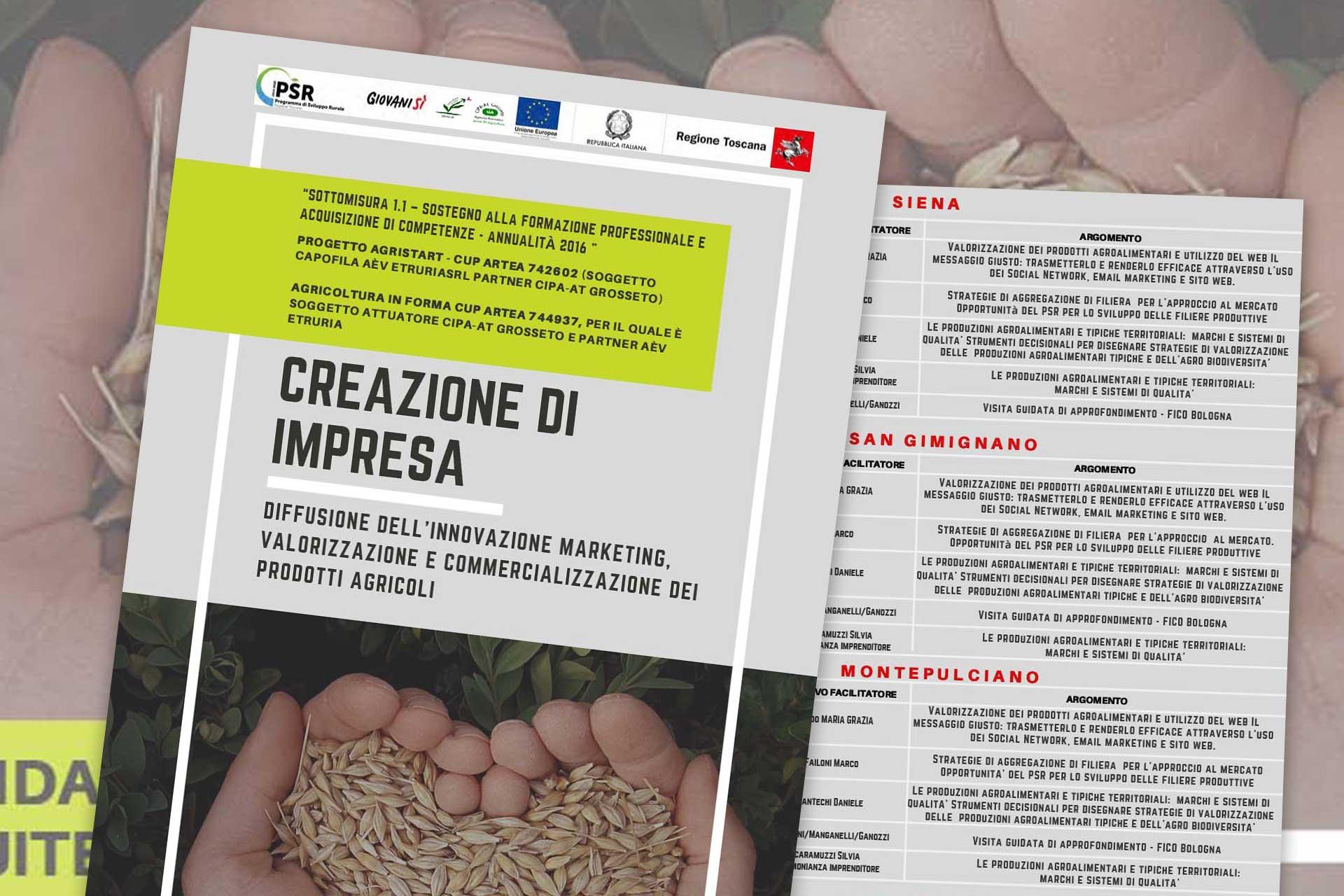 """CORSO GRATUITO / """"Creazione d'impresa"""", sedi di svolgimento in provincia di Siena"""